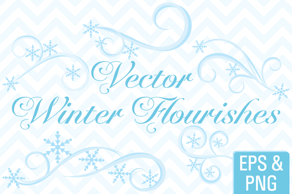 Vector Winter Flourishes