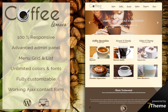 Coffee Coffee Shop WordPress Theme