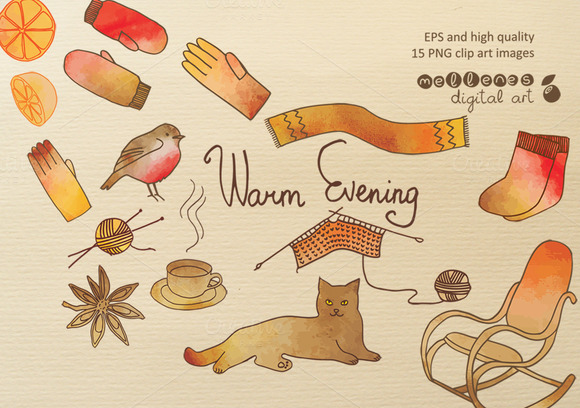 Warm Evening Clip Art Images