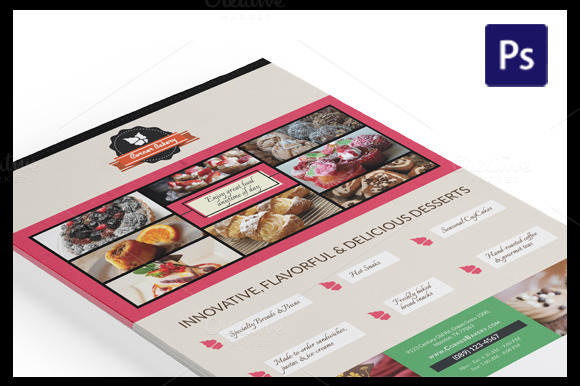 Cake Flyer Magazine Ad Template