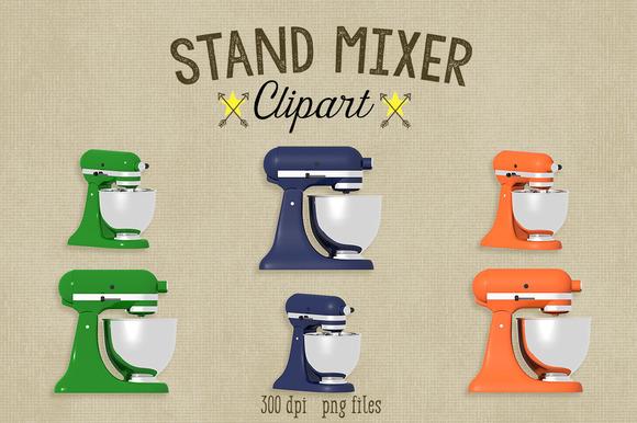 Kitchen Stand Mixer Clipart