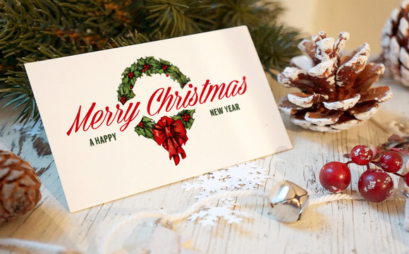 Christmas New Year Card Mockup