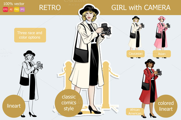 Retro Girl With Camera