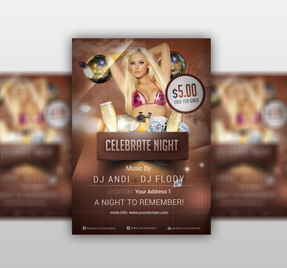 Celebrate Night Flyer PSD Template