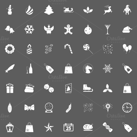 Christmas White Icons For Web