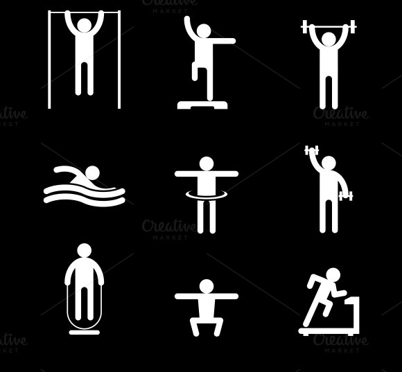 Fitness People Icons