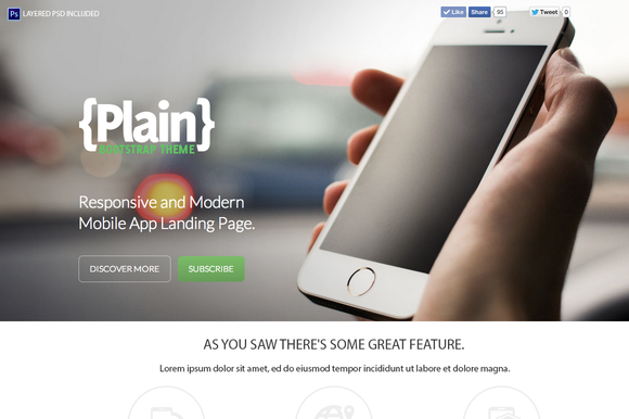 Plain Bootstrap Theme
