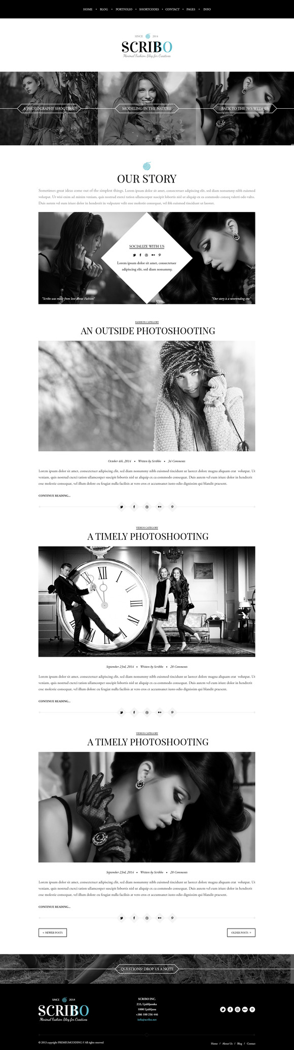 Scribo Fashion Blog Template