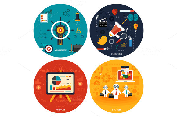 Set Icons For Marketing Management
