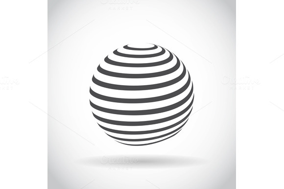 Set Abstract Swirl Sphere Globe