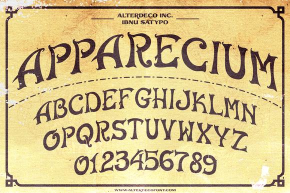 Apparecium Typeface