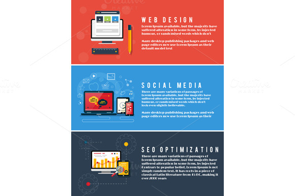 Seo Optimization Web Design Social
