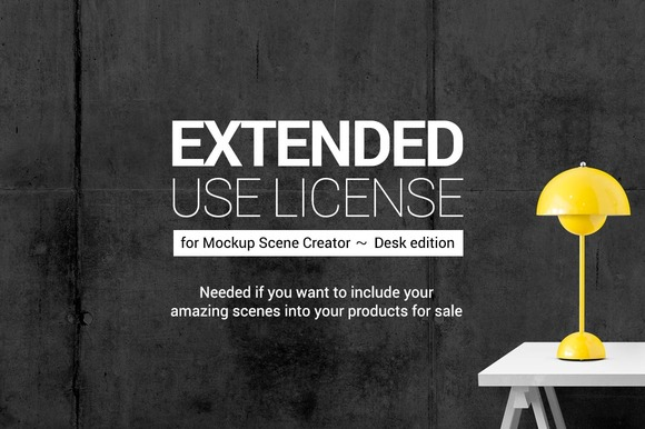 Mockup Scene Creator Ext License