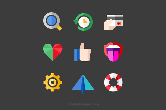 Flat Action Icons