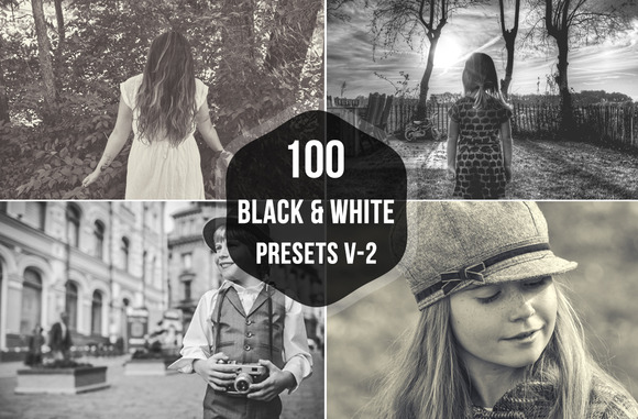 100 Black White Lightroom Presets
