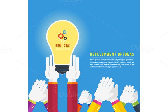 Hands With Lightbulb Idea