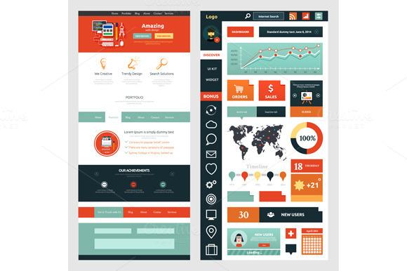 Website Page Template Web Design