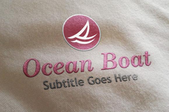 Ocean Boat Style Logo