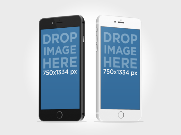 Black Vs White IPhone 6 Mockup