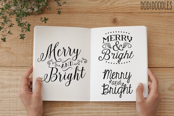 Typography Overlays~Merry And Bright