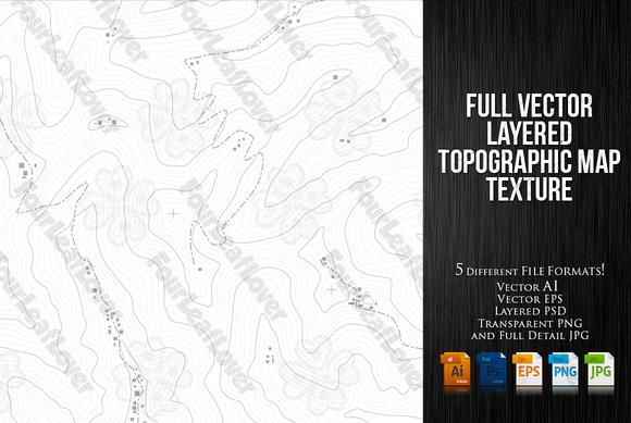 Regular Topographic Map Texture