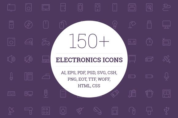 150 Electronic Icons