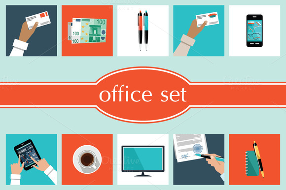 Set Of Office Things