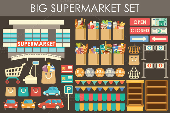 Big Supermarket Set