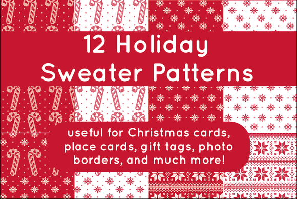12 Holiday Sweater Patterns