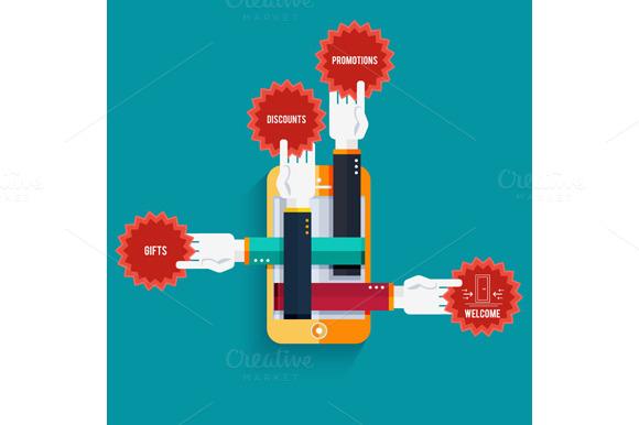 Smartphone With Hands Sticke