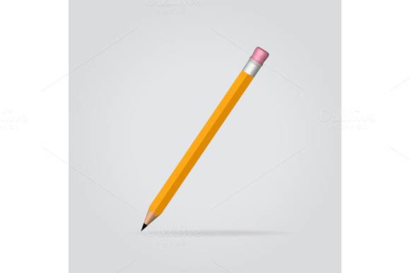 Yellow Pencil In Vertical Position