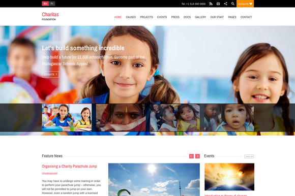 Charitas Foundation WordPress Theme