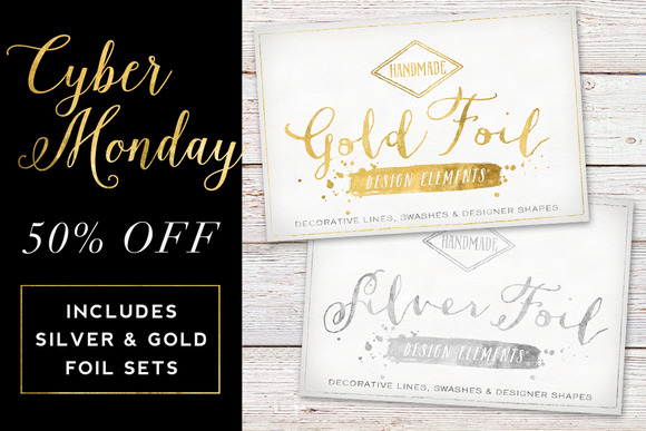 50% Off Gold Silver Foil Bundle