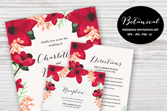 Botanical Wedding Set ESP PSD