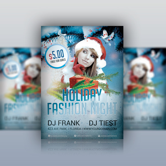 Holiday Fashion Party Flyer PSD