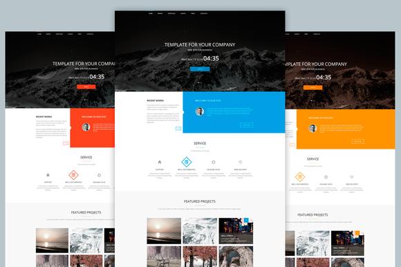 Agency Template Web PSD