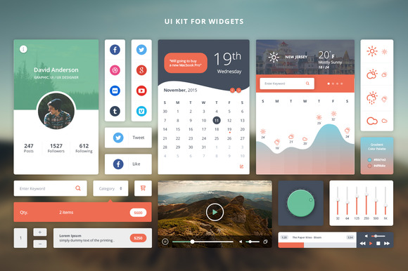 UI Kit For Widgets