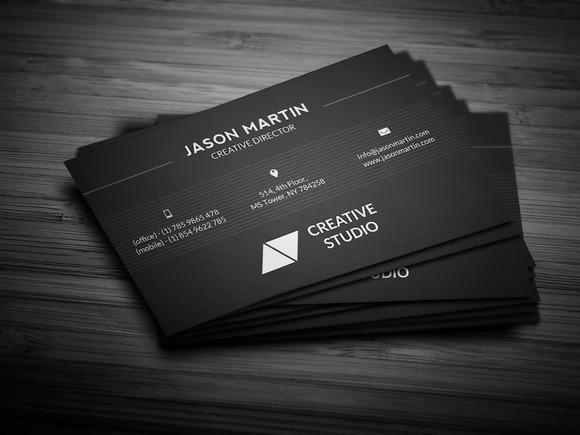 Dark Creative Business Card