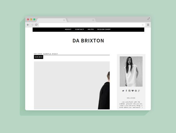 Blogger Template Da Brixton
