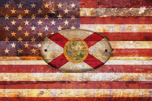 USA And Florida Flags