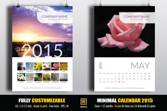 Minimal Calendar 2015