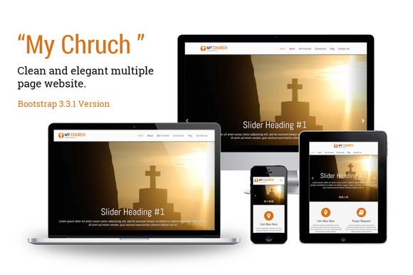 My Church Bootstrap Template