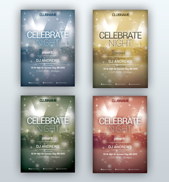 Celebrate Night Flyer PSD Template