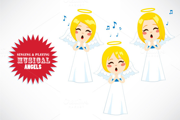 Singing Playing Musical Angels