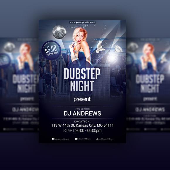 Dubstep Night Flyer PSD Template