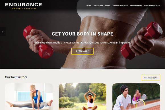 Endurance Fitness Theme