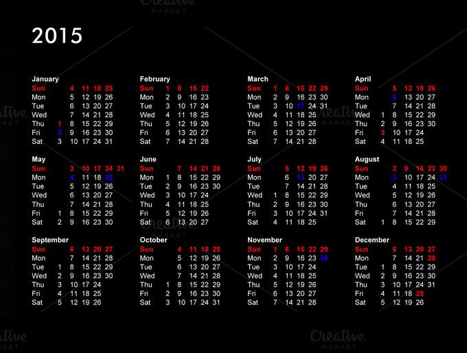 British Calendar 2015