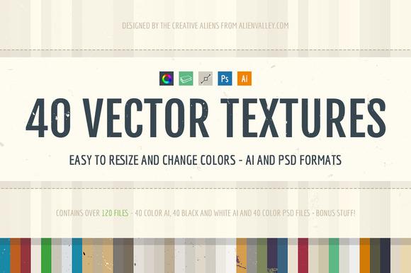 40 Vector Textures Bonus