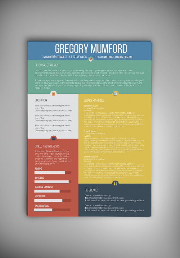 The Extrovert CV Resume