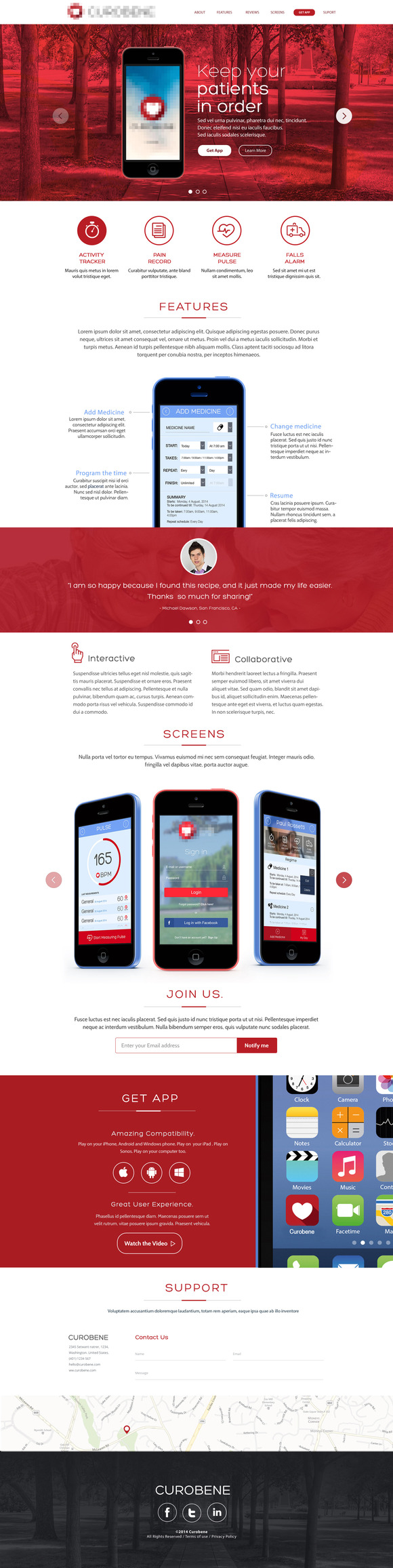 App Presentation One Page Site